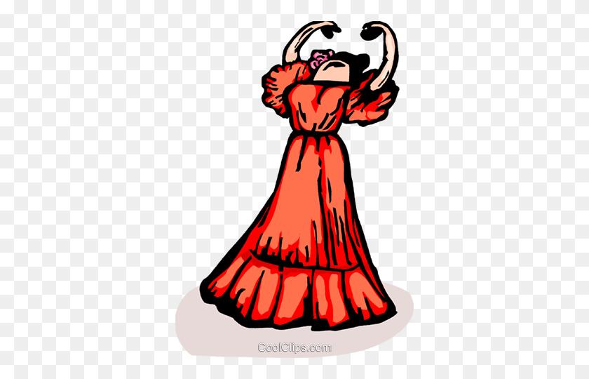 Spanish Dancer Royalty Free Vector Clip Art Illustration - Mexican Dancer Clipart