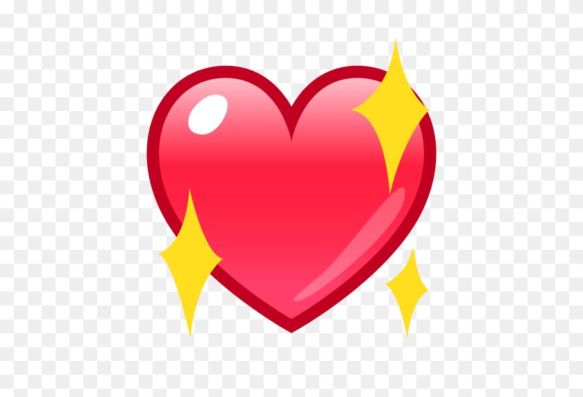 Sparkling Heart Emoji For Facebook, Email Sms Id - Love Emoji PNG
