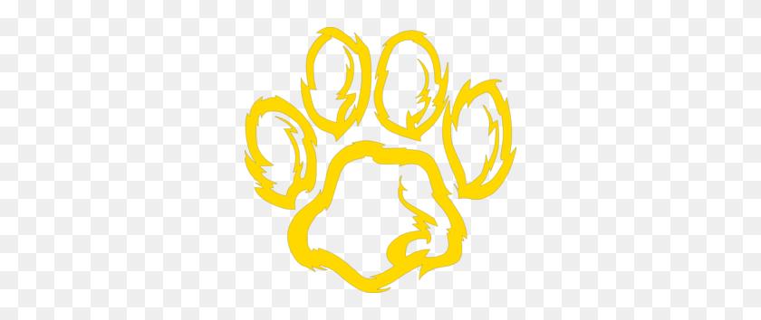Spe Wildcat Paw Golden Clip Art - Wildcat Clipart