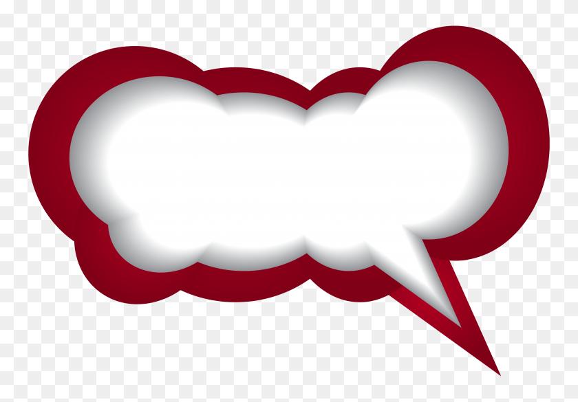 Speech Bubble Red White Png Clip Art - Text Bubble Clipart