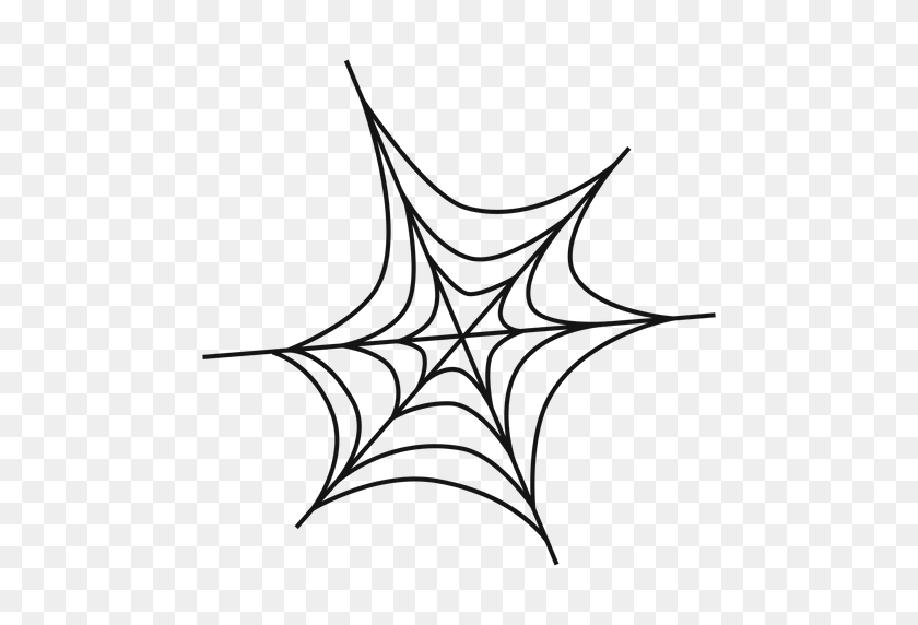 512x512 Spider Web Thin Line Icon - Spider Web PNG