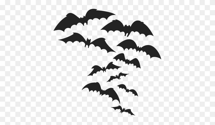 Spooky Bats Cutting Halloween Cuts Halloween Scal - Bats PNG