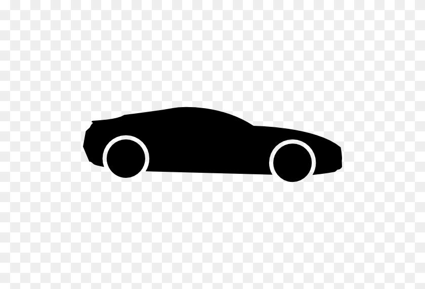 512x512 Sport Car Black Side Shape - Black Car PNG