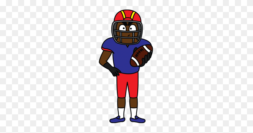 215x382 Sports Activities Clipart Simple Football Player - Football Player Clipart