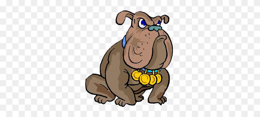 Sports Cute Bulldog Clipart - Cute Bulldog Clipart
