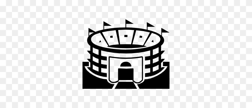 Sports Stadium Sticker - Stadium Clipart