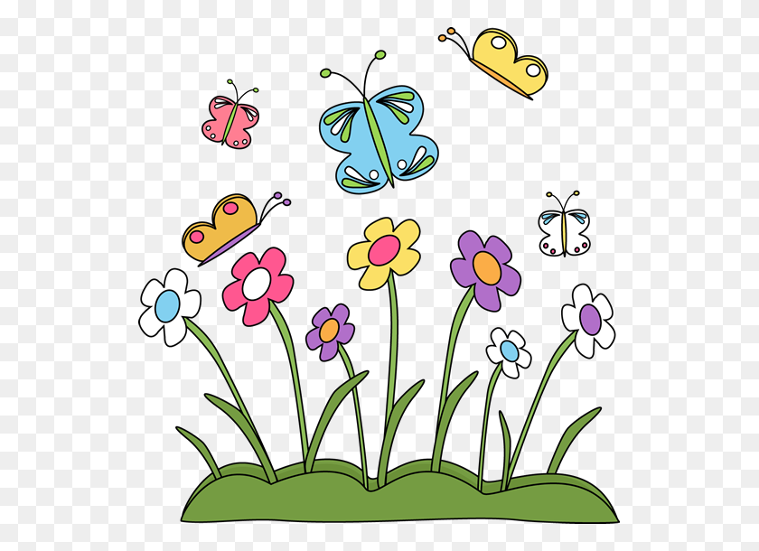 Spring Clip Art - Cute Butterfly Clipart