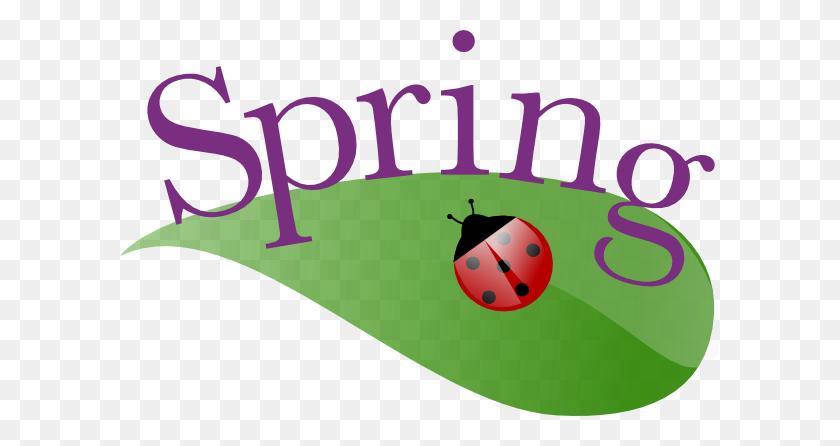 600x386 Spring Ladybug On A Leaf Clip Art - Free Clipart Spring Images