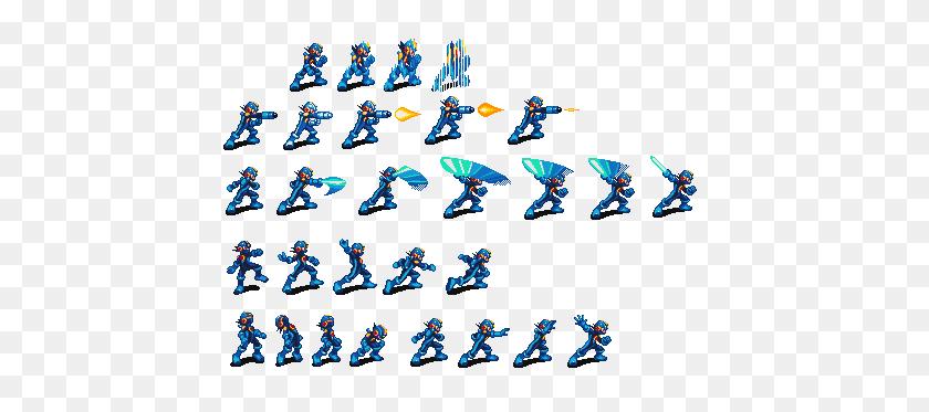 444x313 Sprites Inc - Megaman Sprite PNG