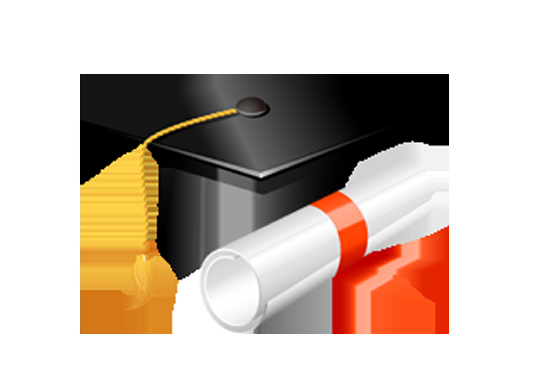 Square Academic Cap Graduation Ceremony Diploma Clip Art - Graduation Cap And Diploma Clipart