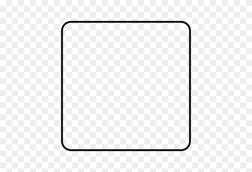 Square Rounded Square Icon - Round Square PNG
