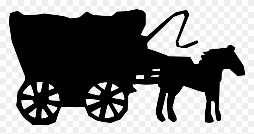 Stagecoach Horse Drawing American Frontier Carriage Free - Oregon Trail Clipart