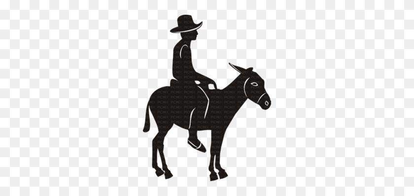Stallion Clipart - Cowboy Silhouette Clip Art