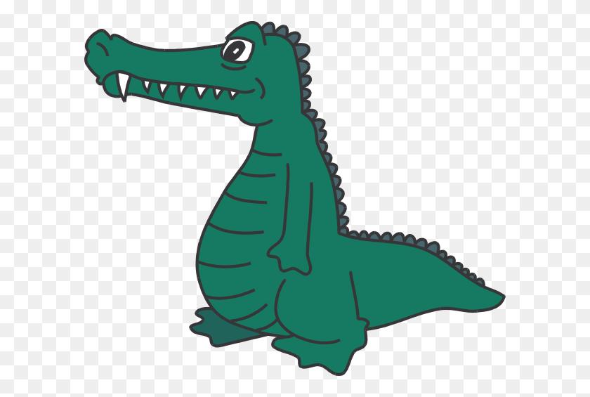 Standing Alligator Clip Art - Crocodile Clipart