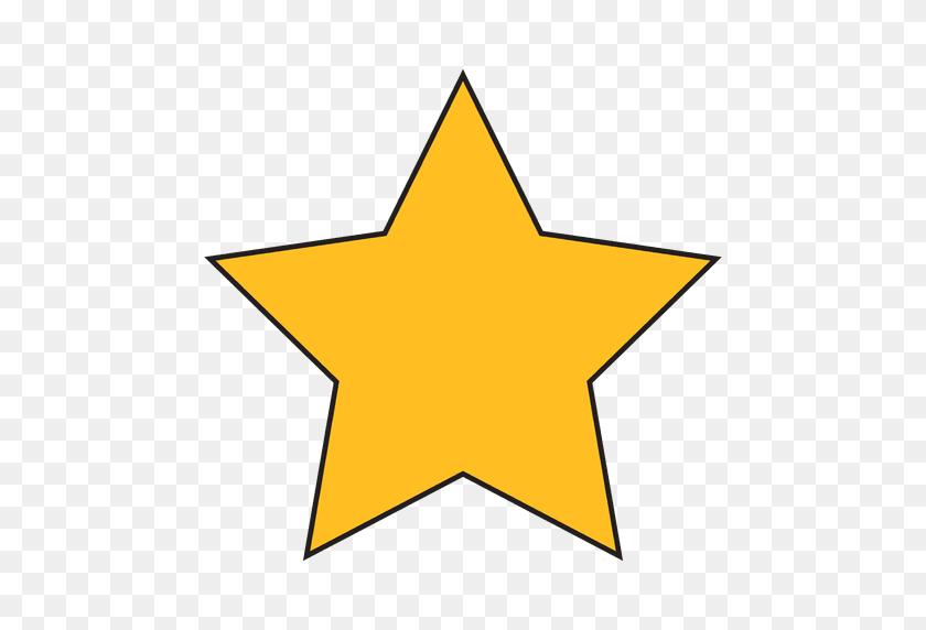 Star Cartoon Icon - Yellow Stars PNG