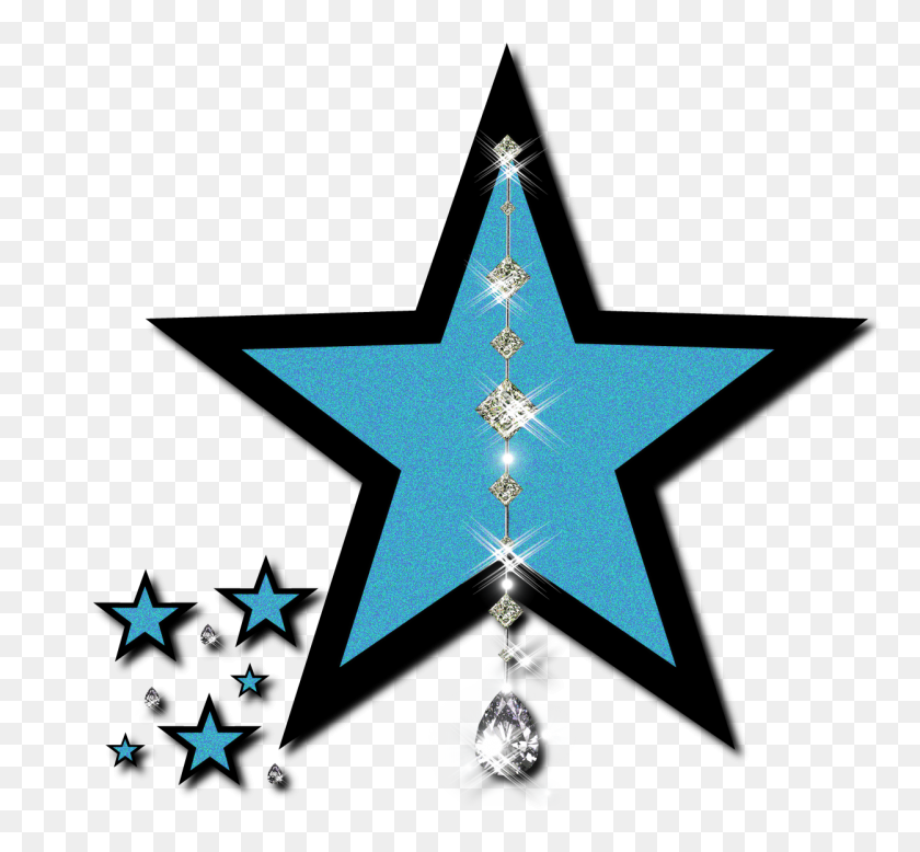 Star Clipart Blue Star - 5 Stars Clipart