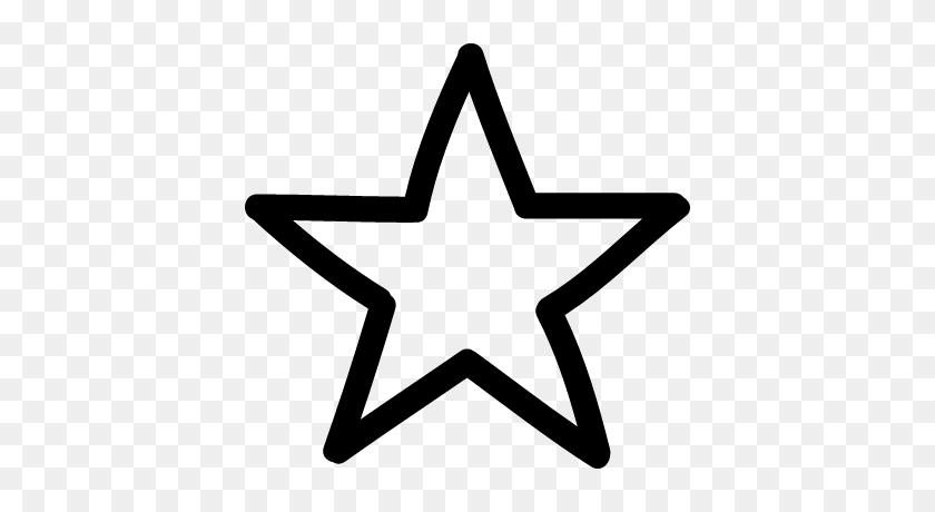 Star Hand Drawn Symbol Outline Logo Vector, Doodle, Hand Drawn - Hand Drawn Star Clipart