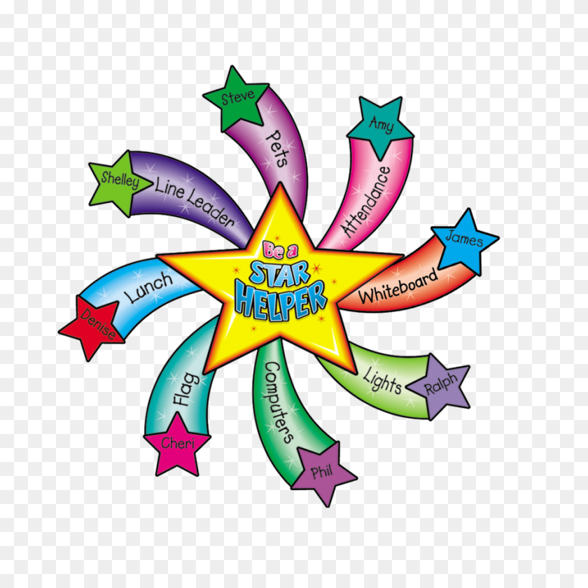 Star Helper Bulletin Board Display Set - Teachers Helper Clipart
