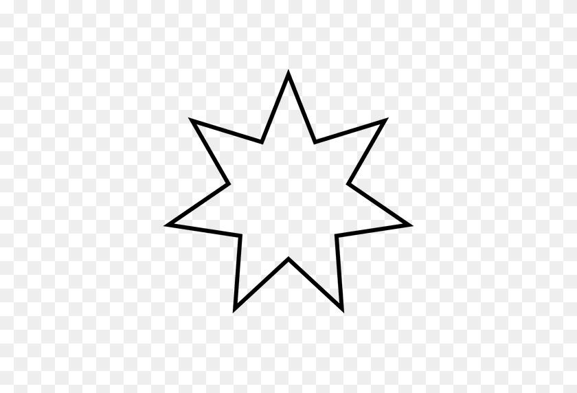 Star Heptagram Outline - Star Outline PNG