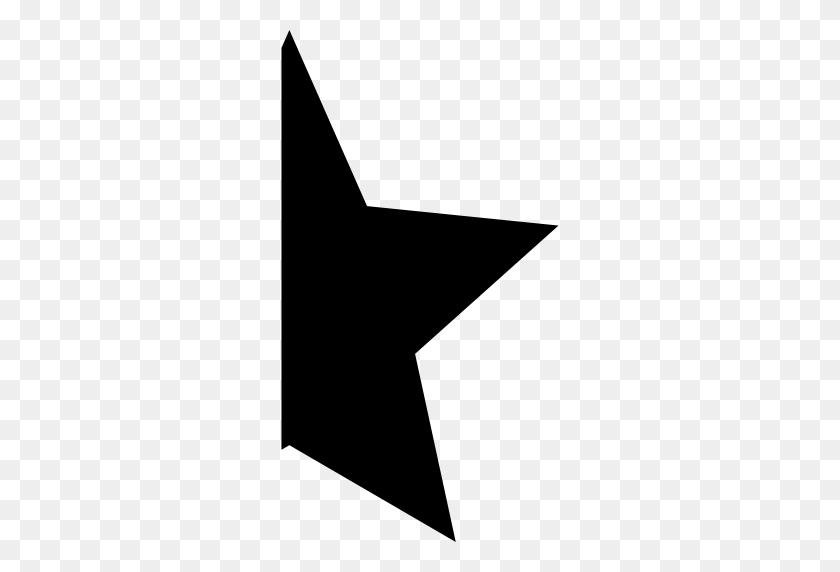 Star Silhouette, Stars, Star, Half, Half Star, Shapes, Half Star - Star Shape PNG