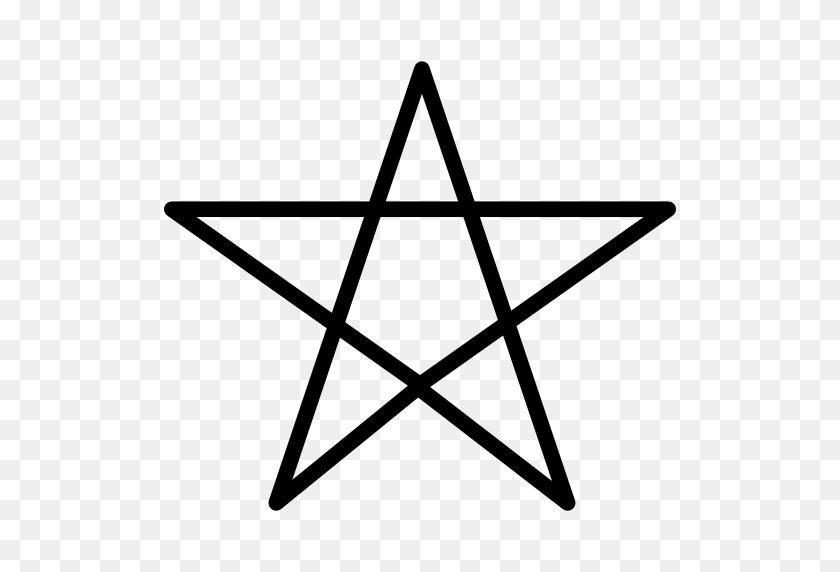 Star, Star Outline, Pentagram, Shapes, Pentagram Outline, Star - Star Outline PNG