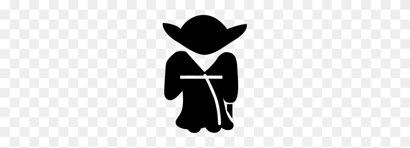 Star Wars Clipart Yoda Silhouette Collection - Yoda Clipart
