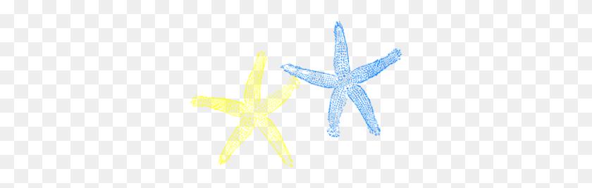 300x207 Starfish Clipart Yellow - Beach Wedding Clipart