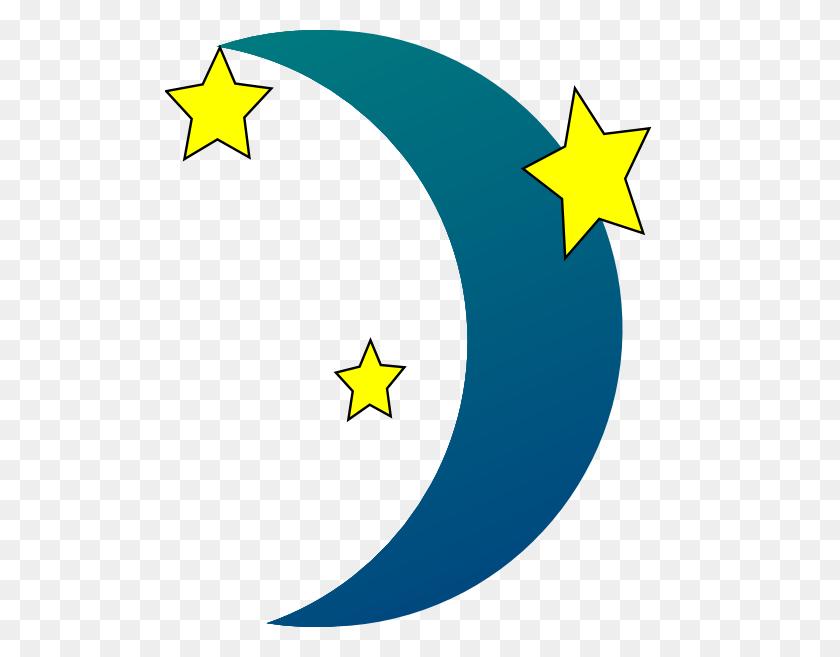 Stars Clipart Moon - Black Stars PNG