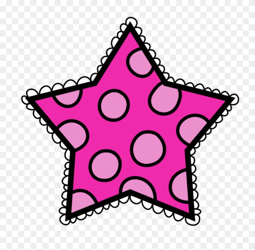 Stars Clipart Polka Dot - Shining Star Clipart