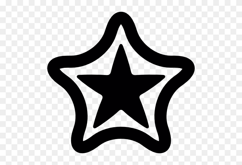 Stars Icon - Black Stars PNG