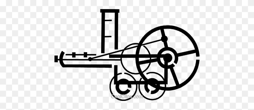 Steam Engine Royalty Free Vector Clip Art Illustration - Steam Engine Clipart