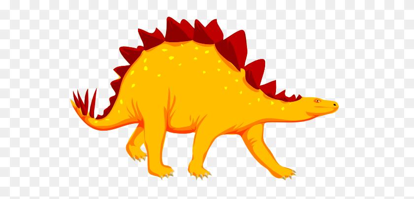 Stegosaurus Clip Art - Cartoon Dinosaur Clipart