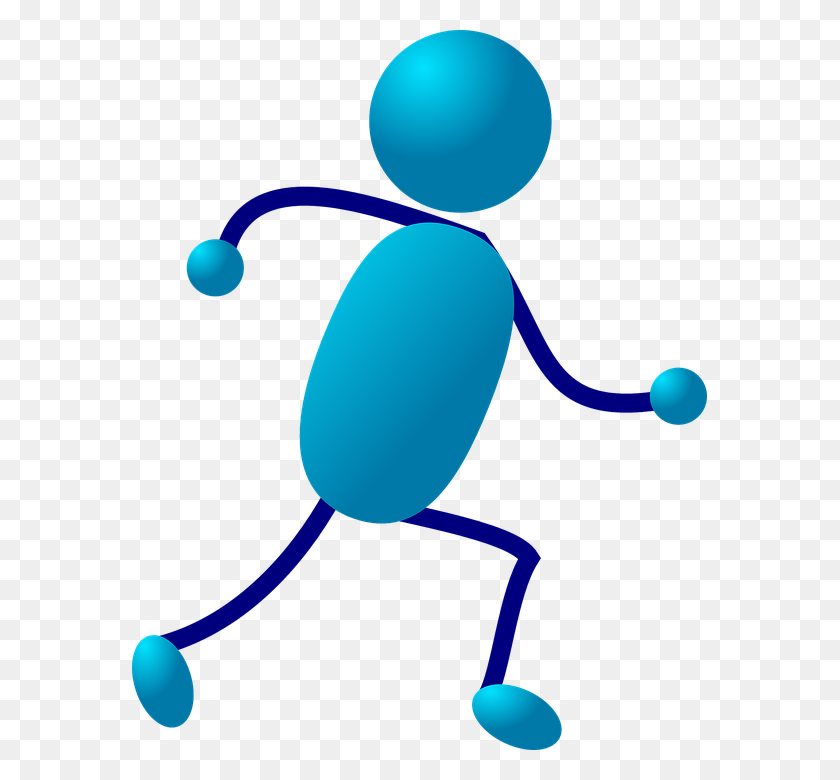 Stick Man Running Group With Items - Men Running Clipart