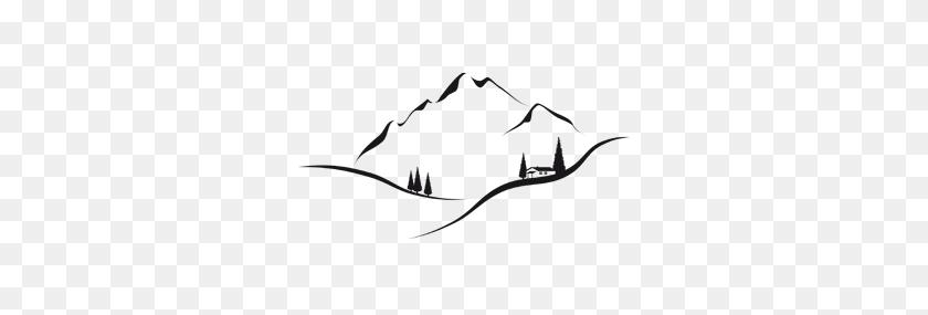 mountain silhouette tattoo