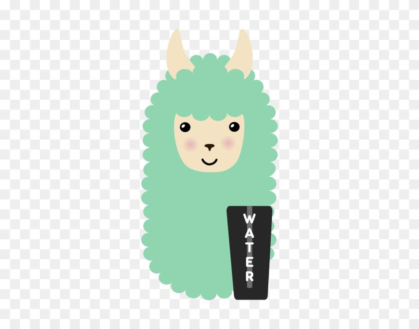 Stickerpop Water Llama - Llama Llama Clipart