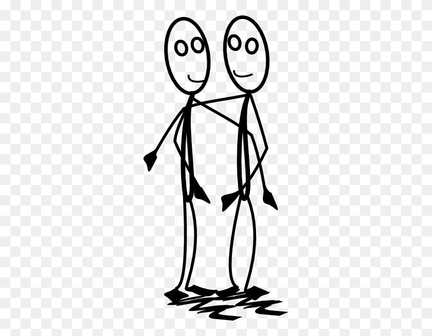 Stickman Hugging Clip Art - Hug Clipart