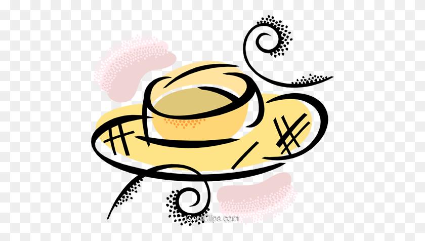 Straw Hat Royalty Free Vector Clip Art Illustration - Straw Hat Clipart