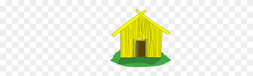 Straw House Clipart - Old House Clipart