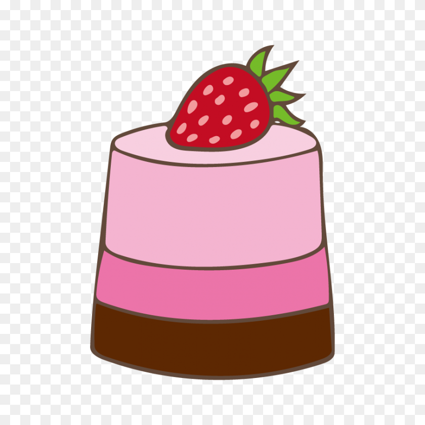 Strawberry Mousse Cake Free Illust Net - Strawberry Cake Clipart
