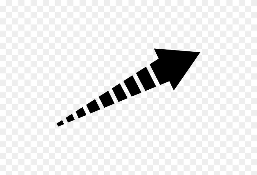 512x512 Striped Right Corner Arrow - Arrow Transparent PNG