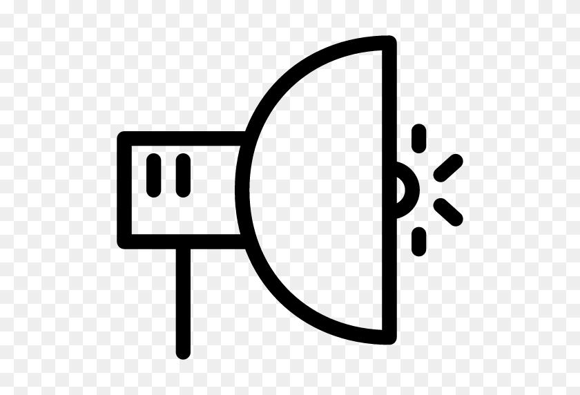 Studio Flash Icon Line Iconset Iconsmind - Light Flash PNG