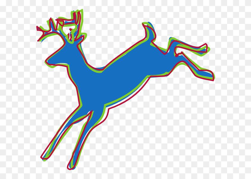 Stylized Deer Silhouette Clip Art - Deer Clipart Silhouette