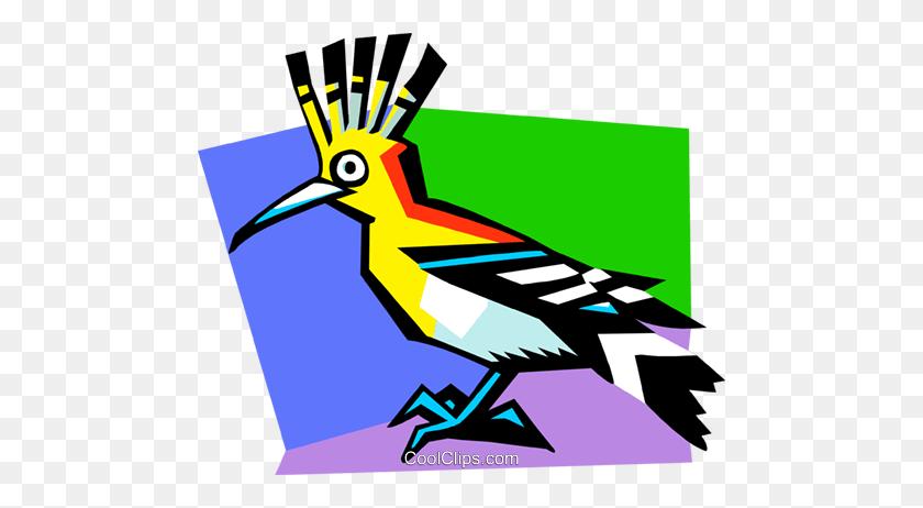 Stylized Tropical Bird Royalty Free Vector Clip Art Illustration - Tropical Bird Clipart