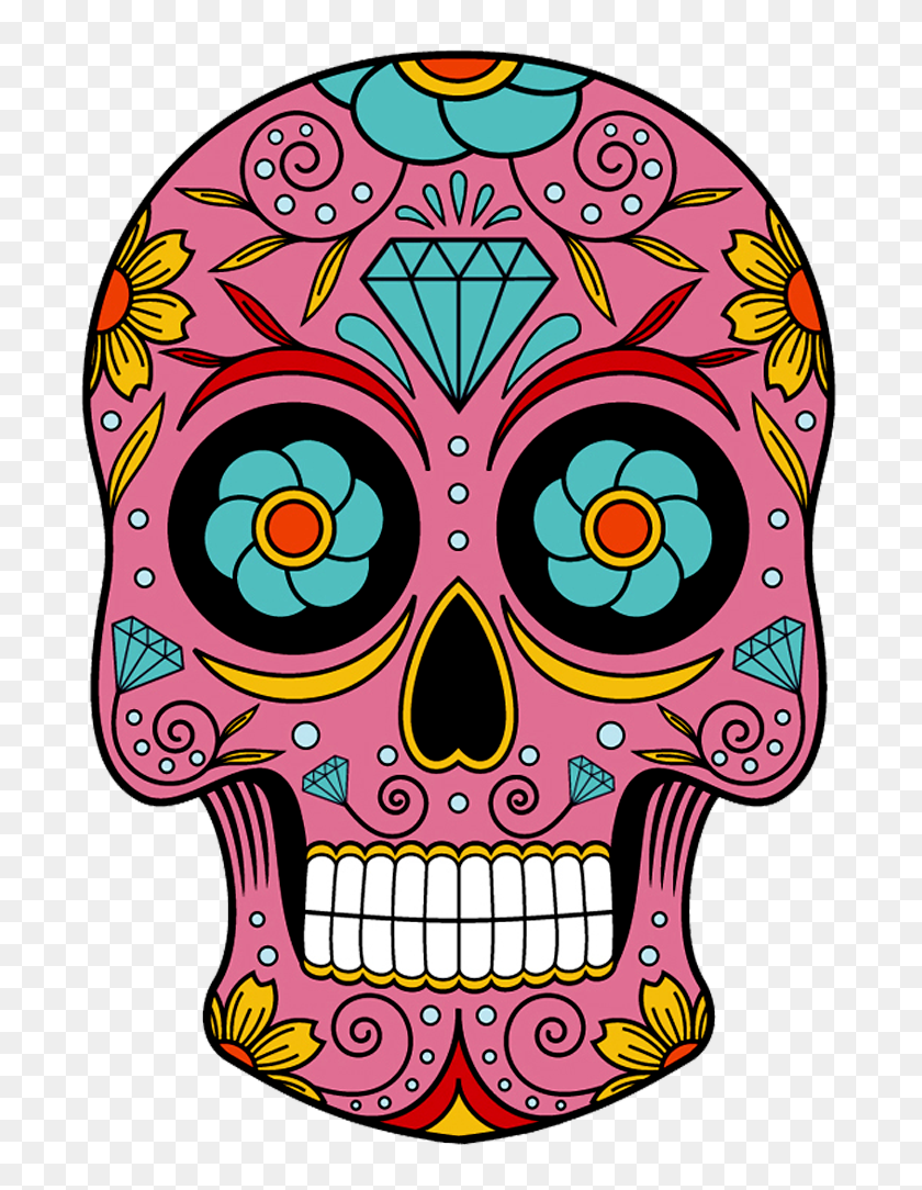 Sugar Skulls In Skull, Sugar Skull - Sugar Skull PNG