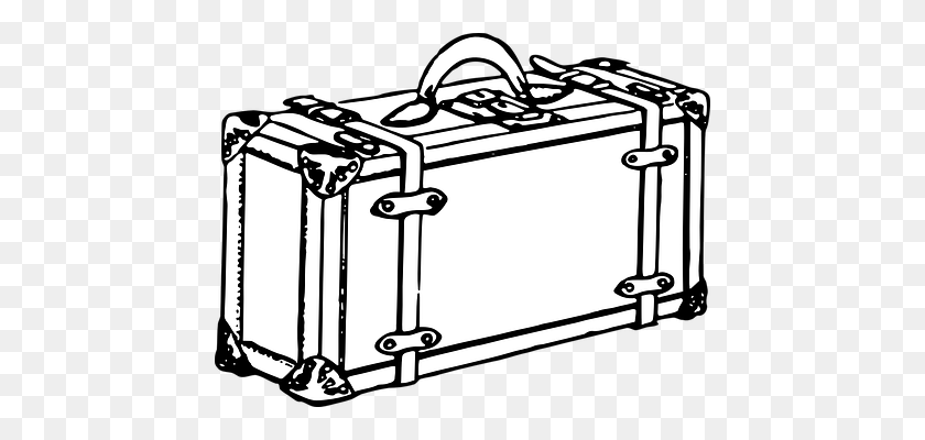 Suitcase Png Image - Suitcase Clipart Black And White, Cliparts & Cartoons  - Jing.fm
