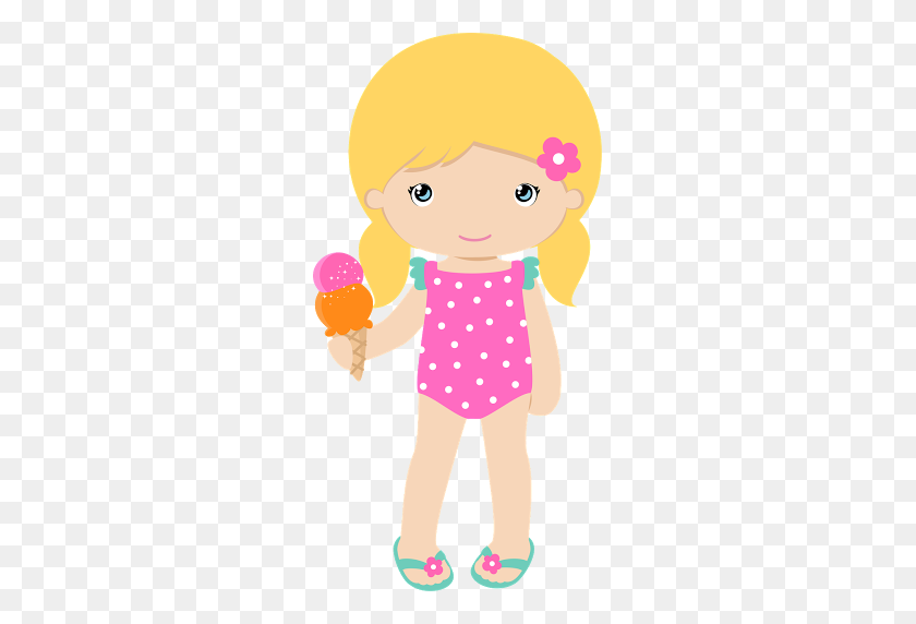 Summer Caroline Album Clip Art And Scrapbook Beach Girl Clipart Stunning Free Transparent Png Clipart Images Free Download