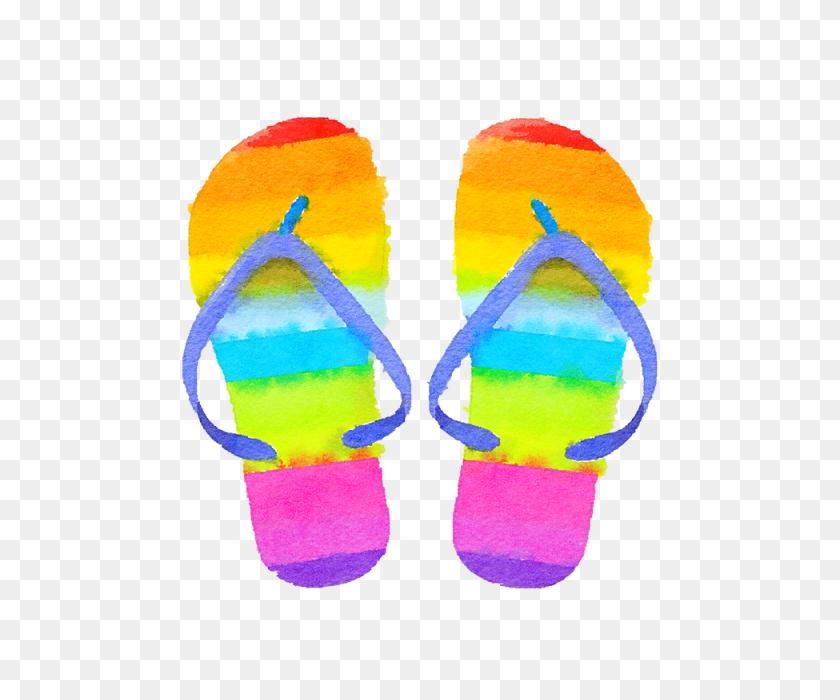 640x640 Summer Colorful Flip Flops, Flip Flops, Summer, Summer Flip Flops - Flip Flops PNG