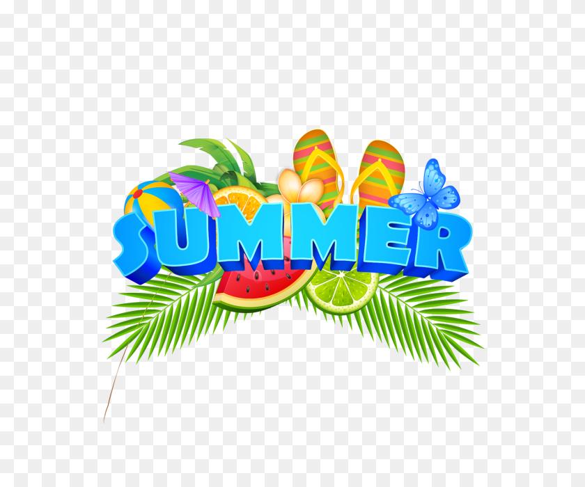 Summer Elements Illustration Badge With Fresh Fruits, Summer - Tree Illustration PNG