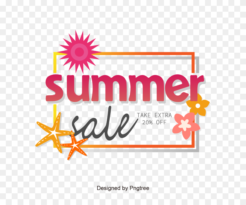 Summer Sale With Label Vector, Sale Vector, Summer Sale, Summer - Summer Sale Clipart
