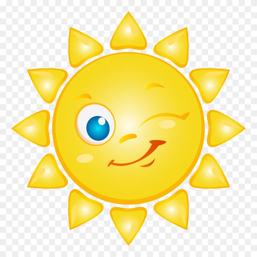 Sun Cartoon Png Clip Art - Moon And Sun Clipart